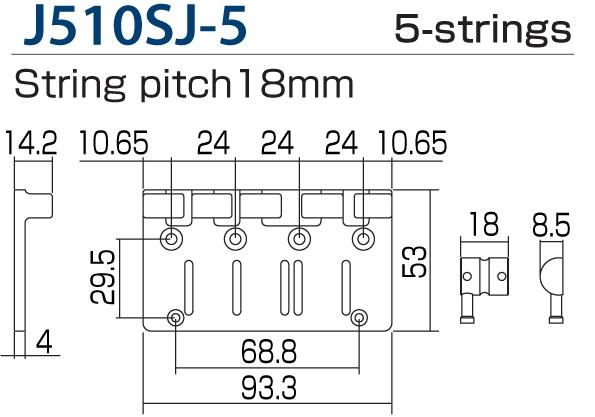 Gotoh J510SJ-5 GD 5string